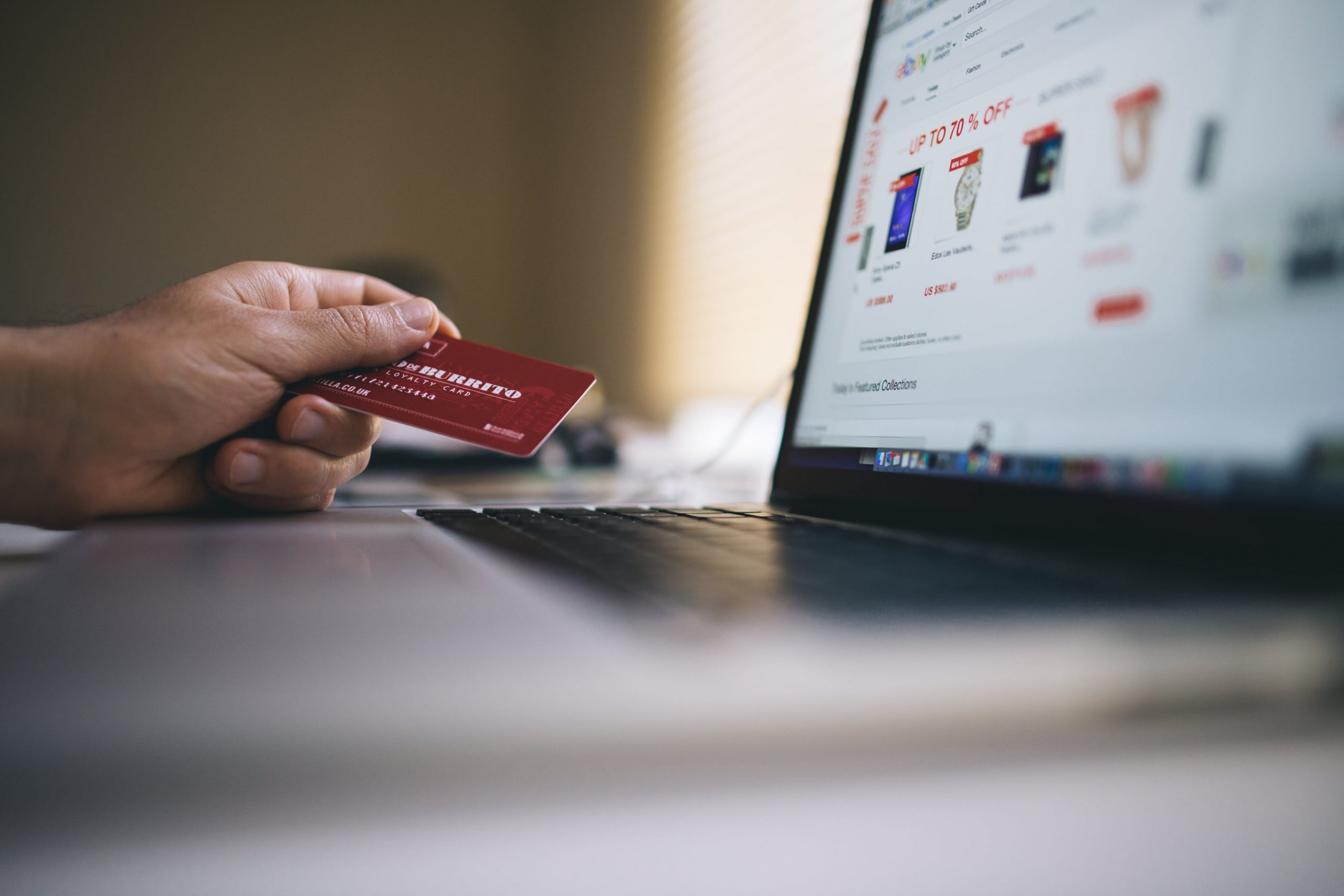 Betaling for online shopping